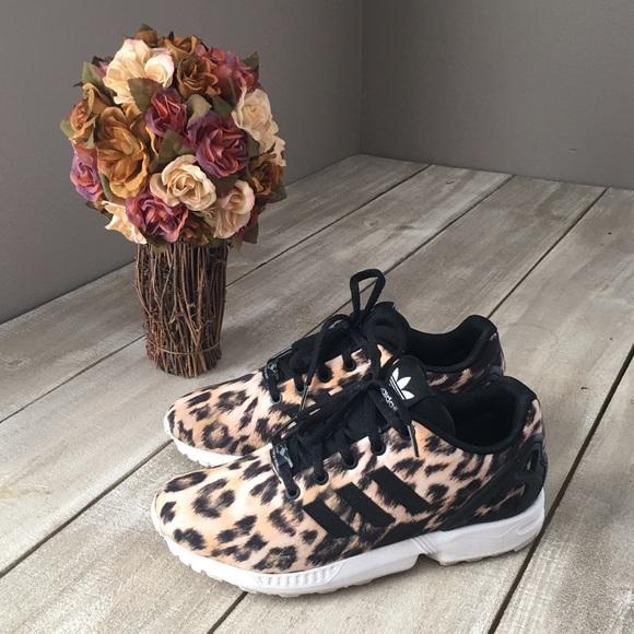 RARE Adidas ZX Flux Leopard Cheetah Print Sneakers